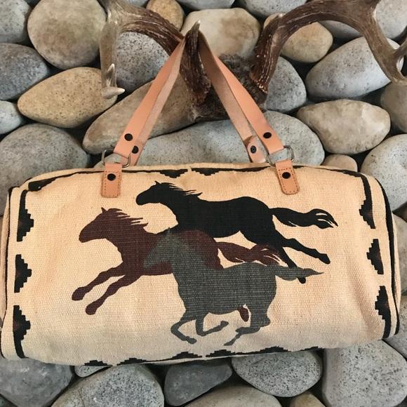 81985367b88 Running Horses Tapestry Barrel Bag